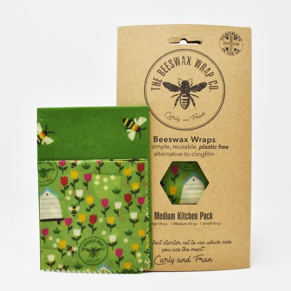 The Beeswax Wrap Co Beeswax Wraps Medium Kitchen Pack Land Print