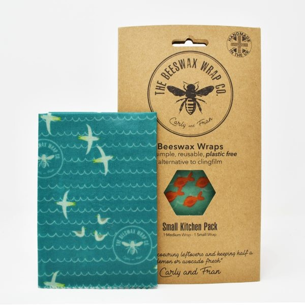 The Beeswax Wrap Co Beeswax Wraps Small Kitchen Pack Sea Print