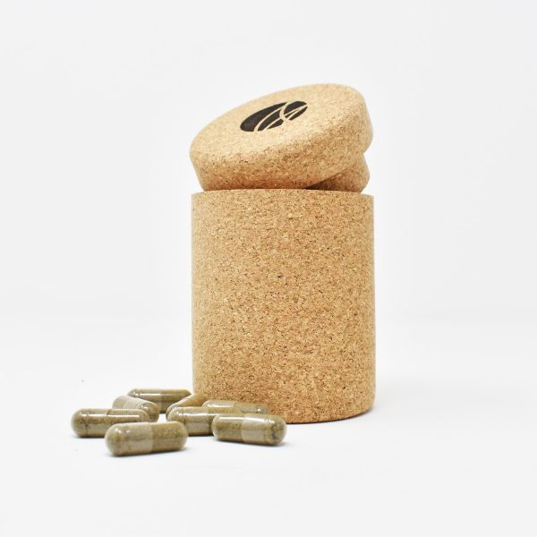 BioVitamin Multivitamins Cork Bottle Open Showing Vitamin Tablets