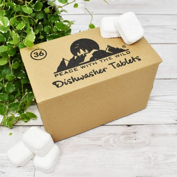 Peace With The Wild 36 Eco-Friendly Dishwasher Tablets Box Open