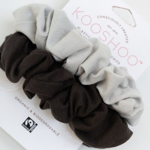 KooShoo Set of 2 Moon Shadow Organic Plastic-free Hair Scrunchies