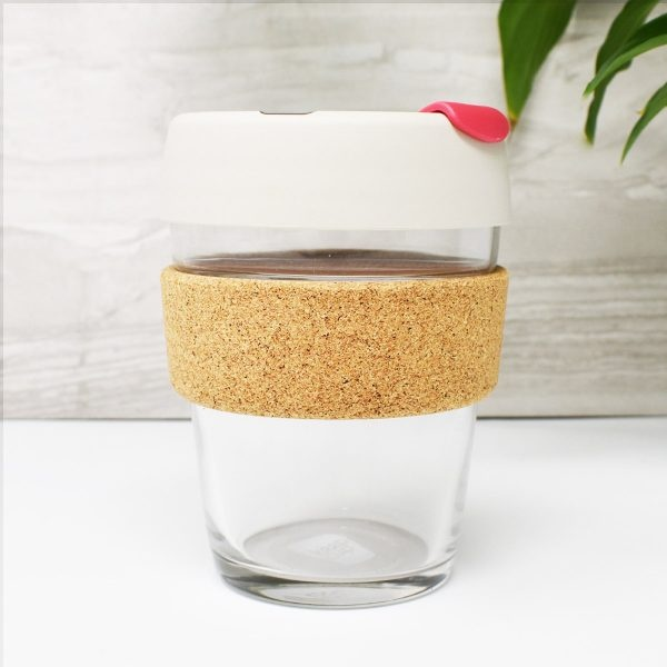 KeepCup Pink Glass Coffee Cup