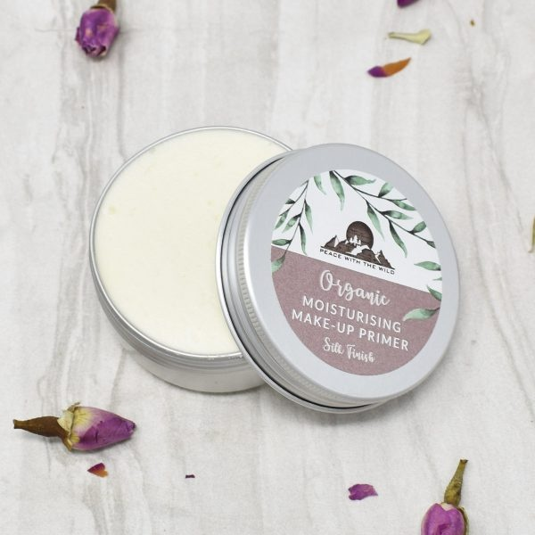 Peace With The Wild Organic Silk Finish Moisturising Make up Primer Tin Open