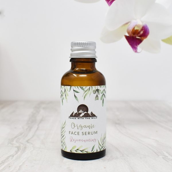 Peace With The Wild Organic Rejuvenating Face Serum Bottle