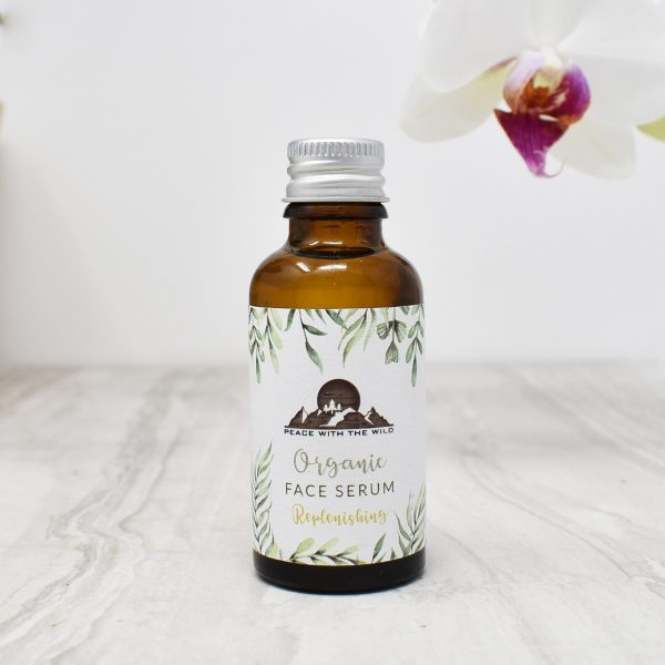 Peace With The Wild Organic Replenishing Face Serum Bottle