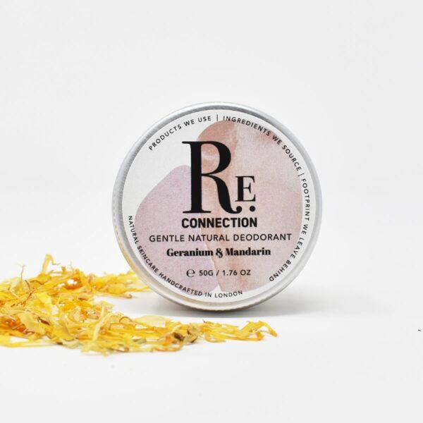 re:connection Geranium & Mandarin Natural Deodorant Tin