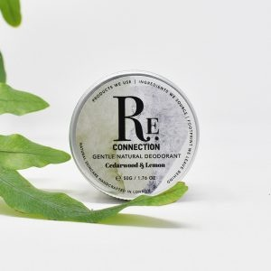 re:connection Cedar wood & Lemon Natural Deodorant Tin