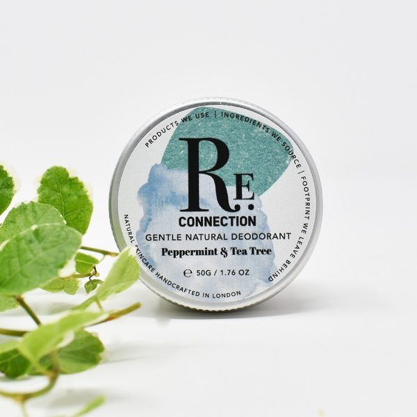 re:connection Peppermint & Tea Tree Natural Deodorant Tin