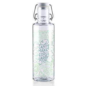 Soul Plants Make People Happy Glass Water Bottle