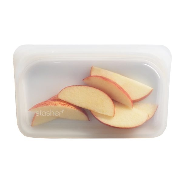 Stasher Clear Silicone Snack Bag With Fruit