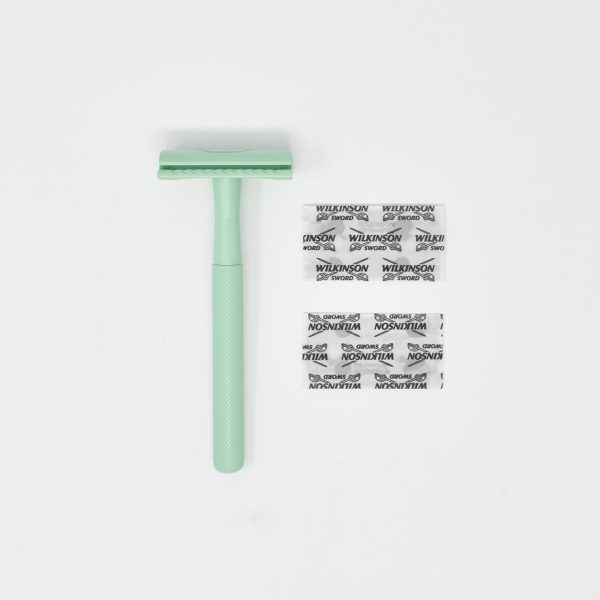 UpCircle Double Edge Chrome Mint Safety Razor With Blades