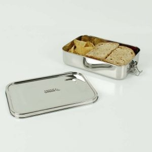 A Slice of Green Large Rectangle Leak Resistant Stainless Steel Lunch Box