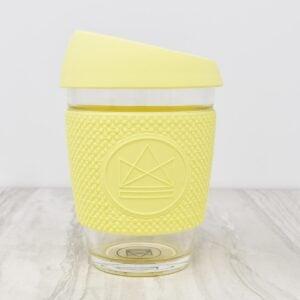 Neon Kactus Yellow Glass Coffee Cup