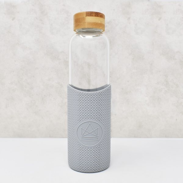 Neon Kactus Glass Water Bottle Cloud 9 Grey