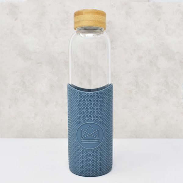 Neon Kactus Glass Water Bottle Twist & Shout Blue
