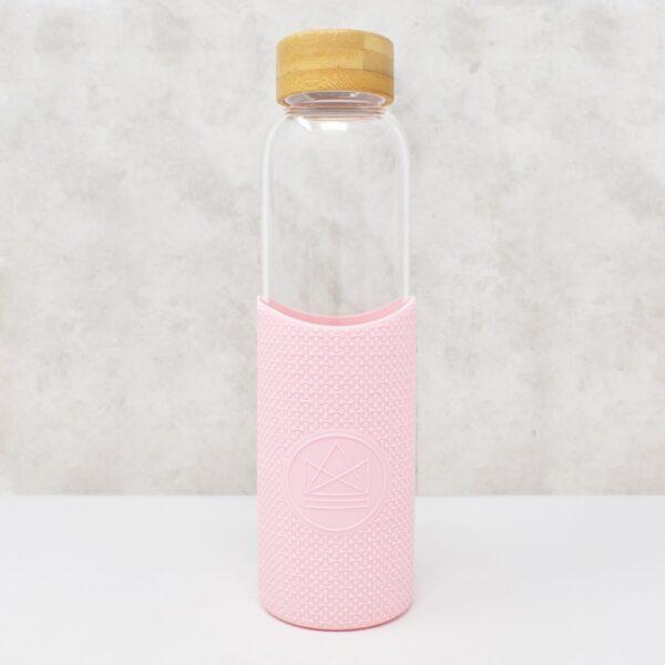 Neon Kactus Glass Water Bottle Friday Feelin Pink
