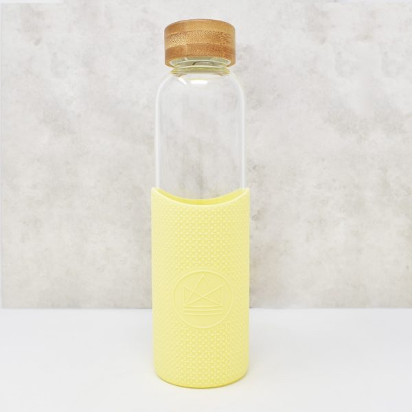 Neon Kactus Glass Water Bottle Summer Lovin Yellow