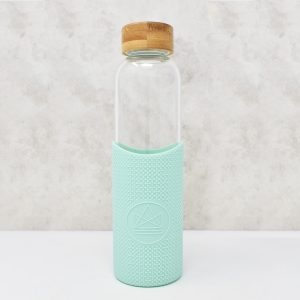 Neon Kactus Glass Water Bottle Good Vibrations Green