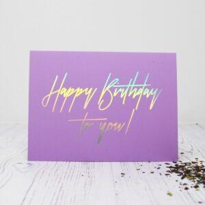 A Beautiful Weirdo Happy Birthday Eco Glitter Greetings Card