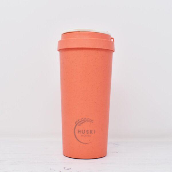Huski Large Coral Rice Husk Coffee Cup