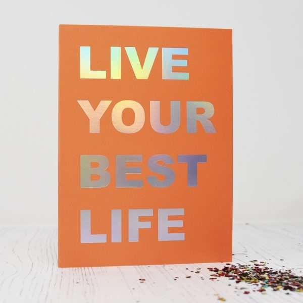 Beautiful Weirdo Live Your Best Life Eco Glitter Greetings Card