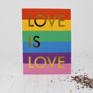 A Beautiful Weirdo Love Is Love Eco Glitter Greetings Card