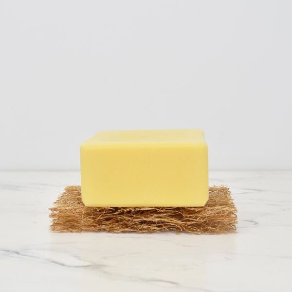 Eco Living 155g Dish Washing Soap Bar Lemon On A Soap Rest