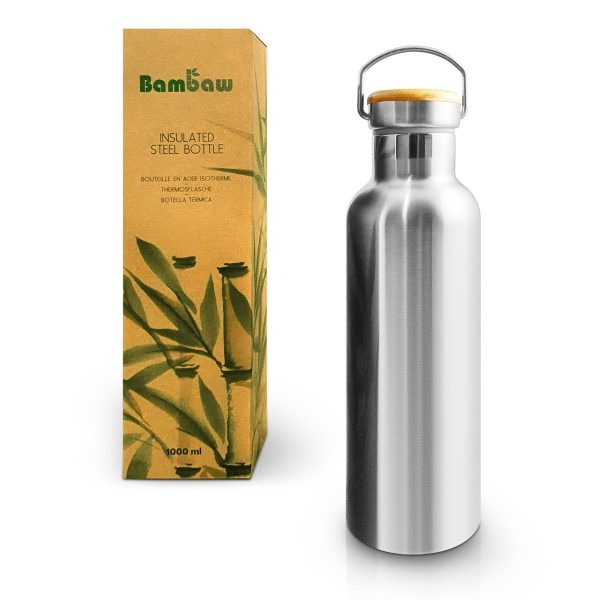 Bambaw Stainless Steel Insulated Bottle 1000ml