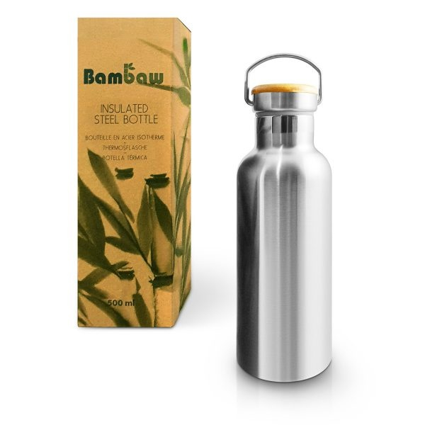 Bambaw Stainless Steel Insulated Bottle 500ml