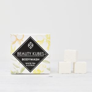 Beauty Kubes, Body Wash, White Tea & Citrus, bodywash cubes, bath, shower, soap bar, vegan-friendly, plastic-free,