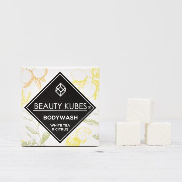 Beauty Kubes, Body Wash, White Tea & Citrus, bodywash cubes, bath, shower, soap bar, vegan-friendly, plastic-free,