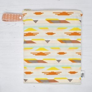 Marley's Monsters Large Nappy Wet Bag With Aztec Print