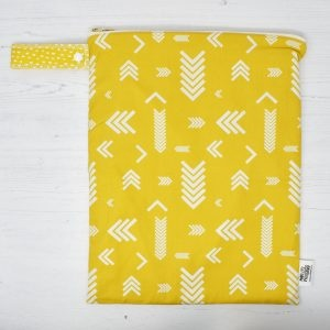 Marley's Monsters Large Nappy Wet Bag With Chevrons Print