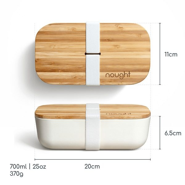 Nought Bamboo Lid Lunchbox dimensions