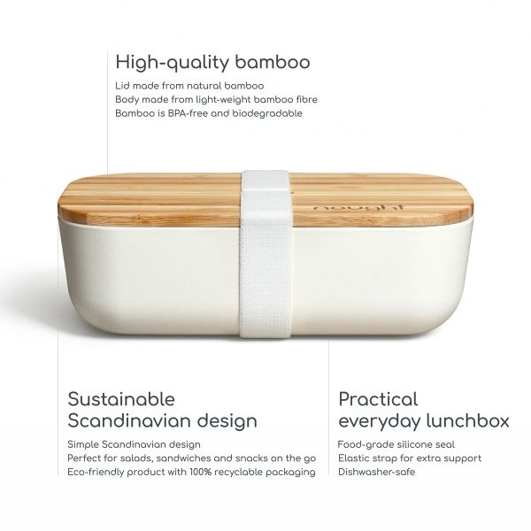 Nought Bamboo Lid Lunchbox Information graphic