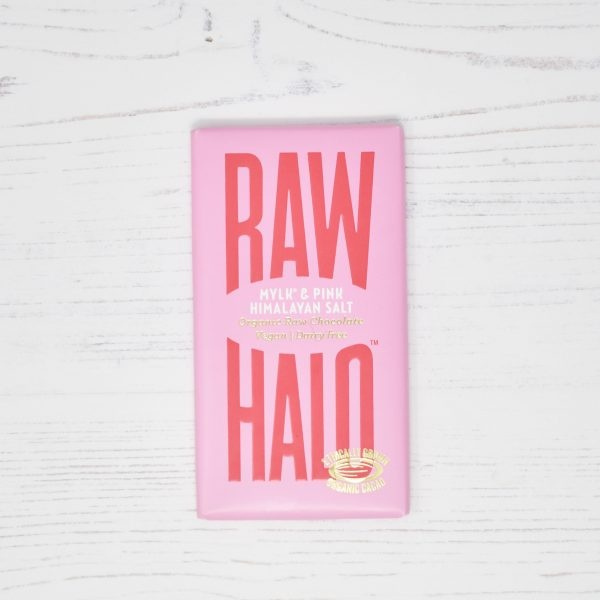 Raw Halo Vegan Organic Raw Chocolate Mylk & Pink Himalayan Salt