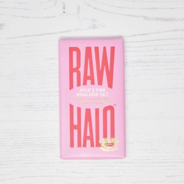 Raw Halo Vegan Organic Raw Chocolate Mylk & Pink Himalayan Salt