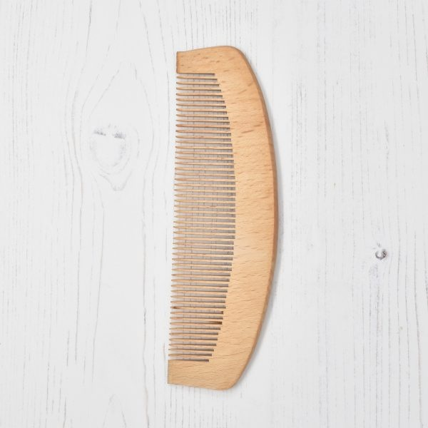 Rugged Nature Large Wooden Curved Comb