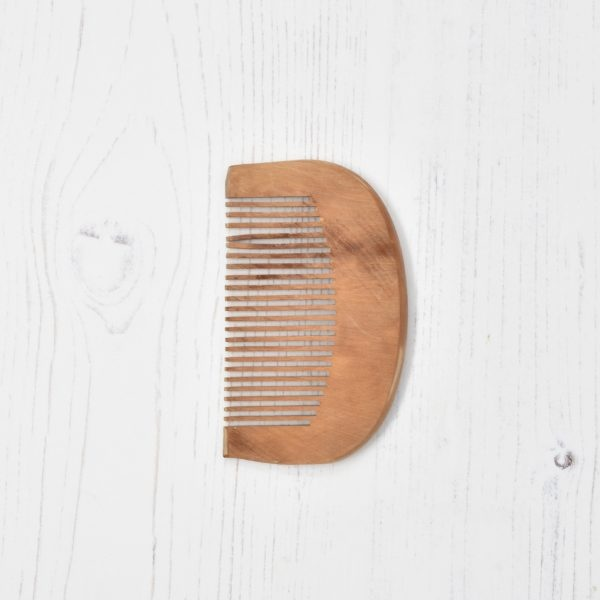 Rugged Nature Small Wooden Curved Comb