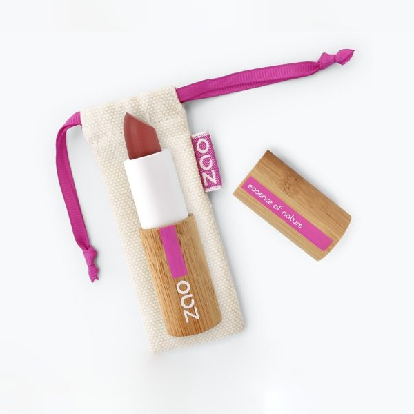 Zao Pink Red Matte Lipstick And Bag