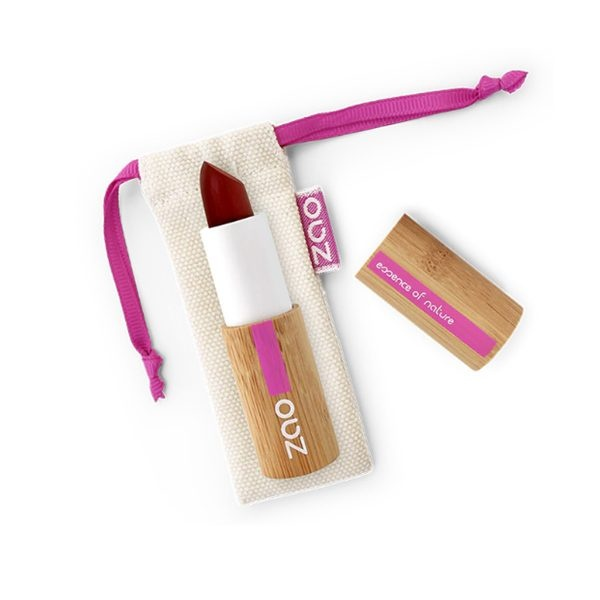Zao Bordeaux Cocoon Balm Lipstick With Bag