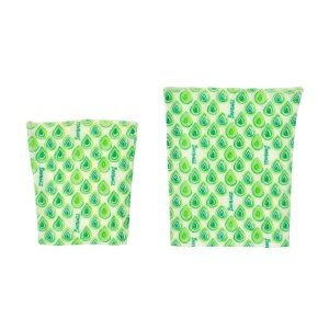 Beebagz Green Beeswax Bags Snack Pack