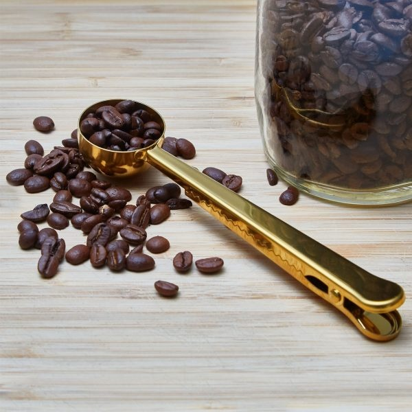 Green Island Gold Coffee Scoop Clip