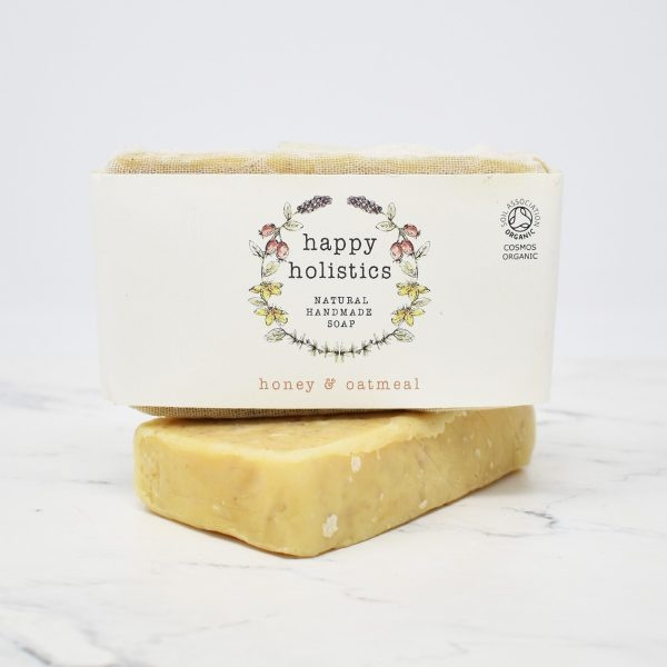 Happy Holistics Organic Soap Bar – Honey & Oatmeal