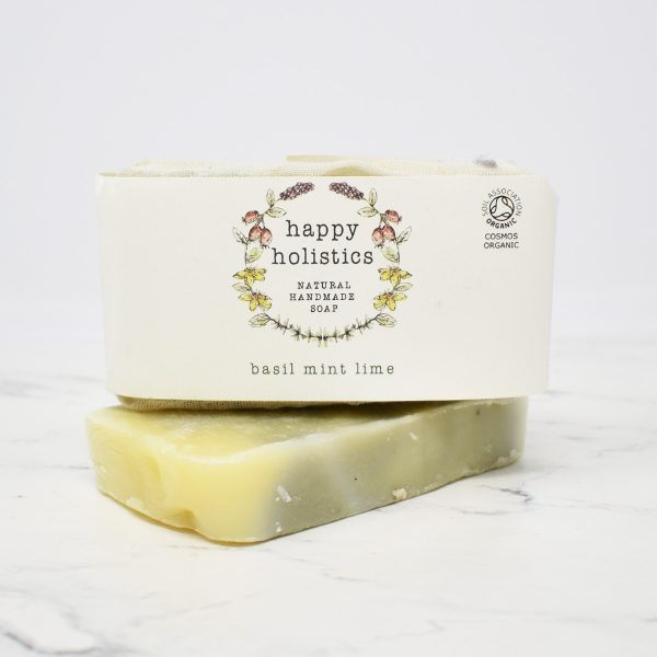 Happy Holistics Organic Soap Bar – Basil Mint Lime