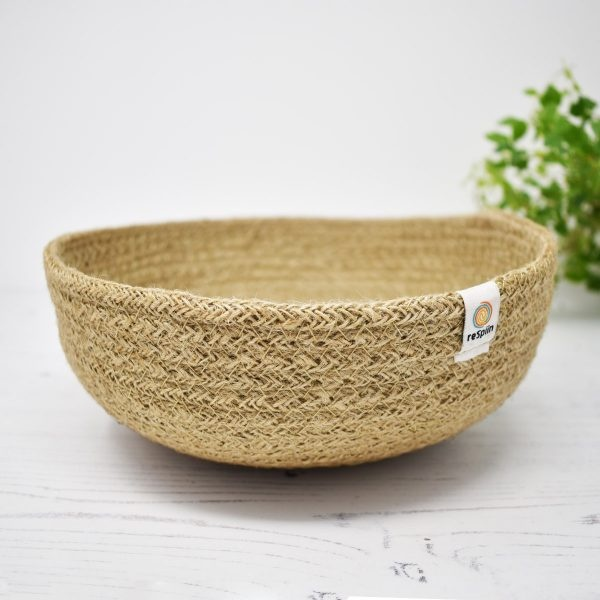 ReSpiin Medium Jute Basket – Natural