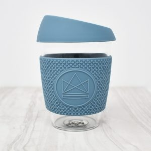 Neon Kactus Blue Glass Coffee Cup