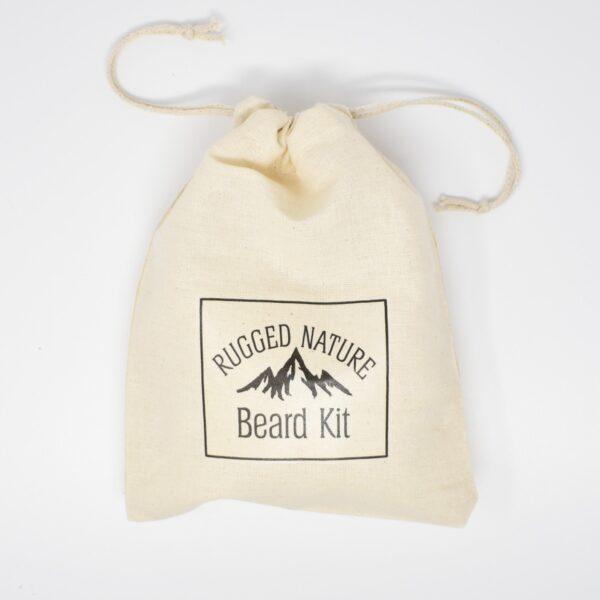 Rugged Nature Natural Cotton Drawstring Beard Kit Bag