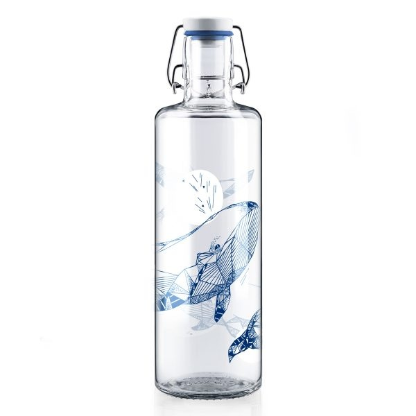 Soul Diver Glass Water Bottle