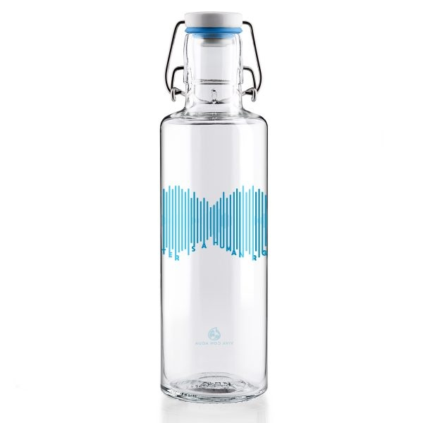 Soul Water is a Human Right Glass Water Bottle